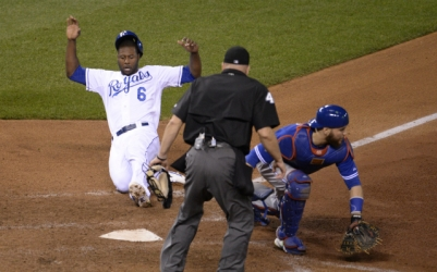 Lorenzo Cain's dash around the bases was critical in the Royals returning to the World Series. (www.cbssports.com)