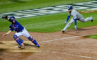 Eric Hosmer's dash home in the 9th inning of Game 5. (Jeff Curry-USA TODAY Sports)
