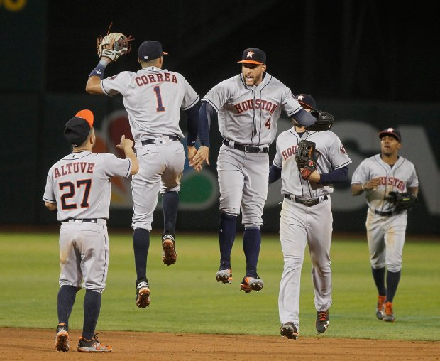HOUSTON ASTROS AT OAKLAND ATHLETICS MLB